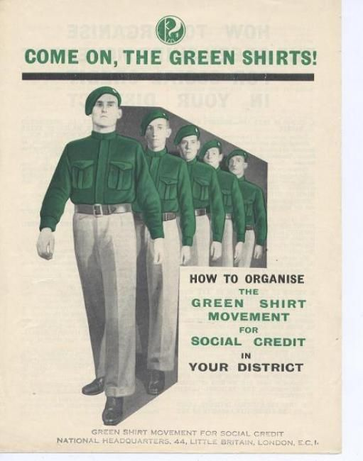 Throughout the 1930s the 'green shirt' party provided a political alternative to the communist 'red shirts' and fascist 'black shirts'.