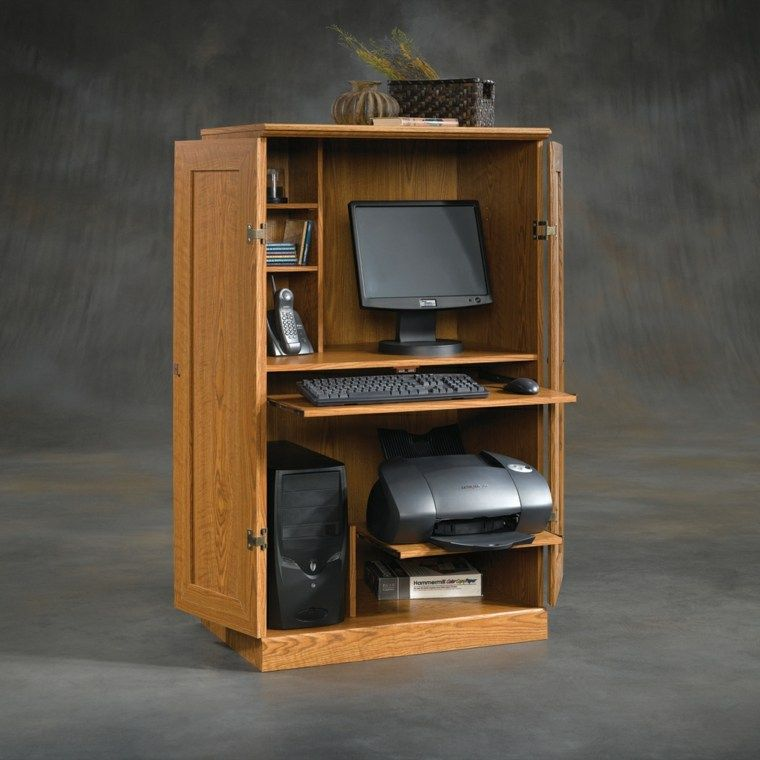 Computer Cabinet And Desk For Modern Computers Armoire Informatique