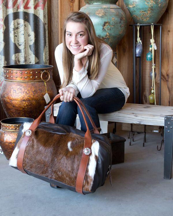 Great Cowhide Bag to take on any of your   trips.http://www.teskeys.com/