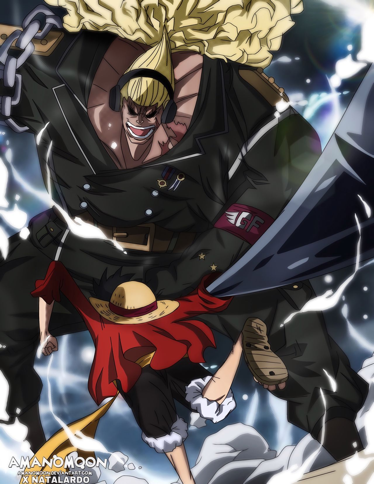 One Piece Film Stampede Luffy vs Douglas Bullet HD by