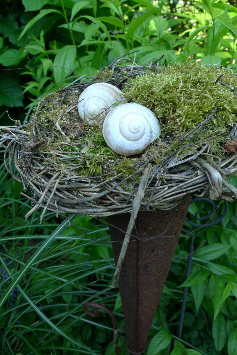 Schneckenhäuser als Gartendeko - Karin Urban - NaturalSTyle