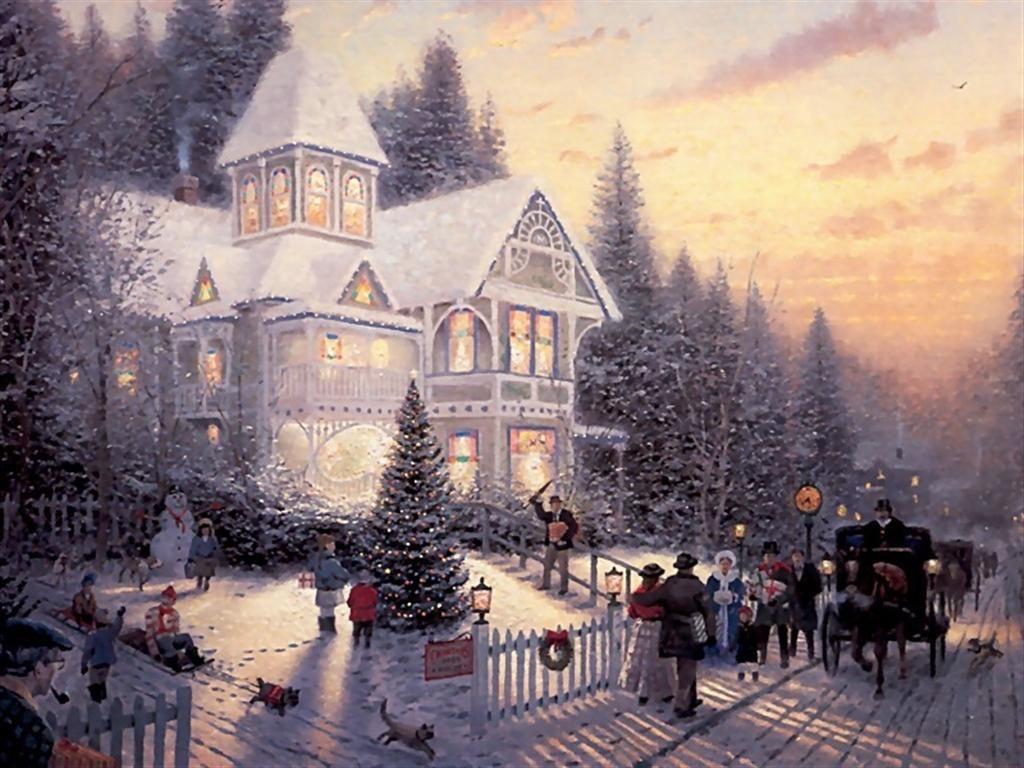 Thomas Kinkade Christmas Picture | It\'s Christmas Time! | Pinterest ...