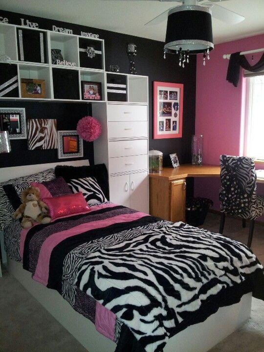 Teenage zebra room | cool room ideas | Pinterest | Room ...