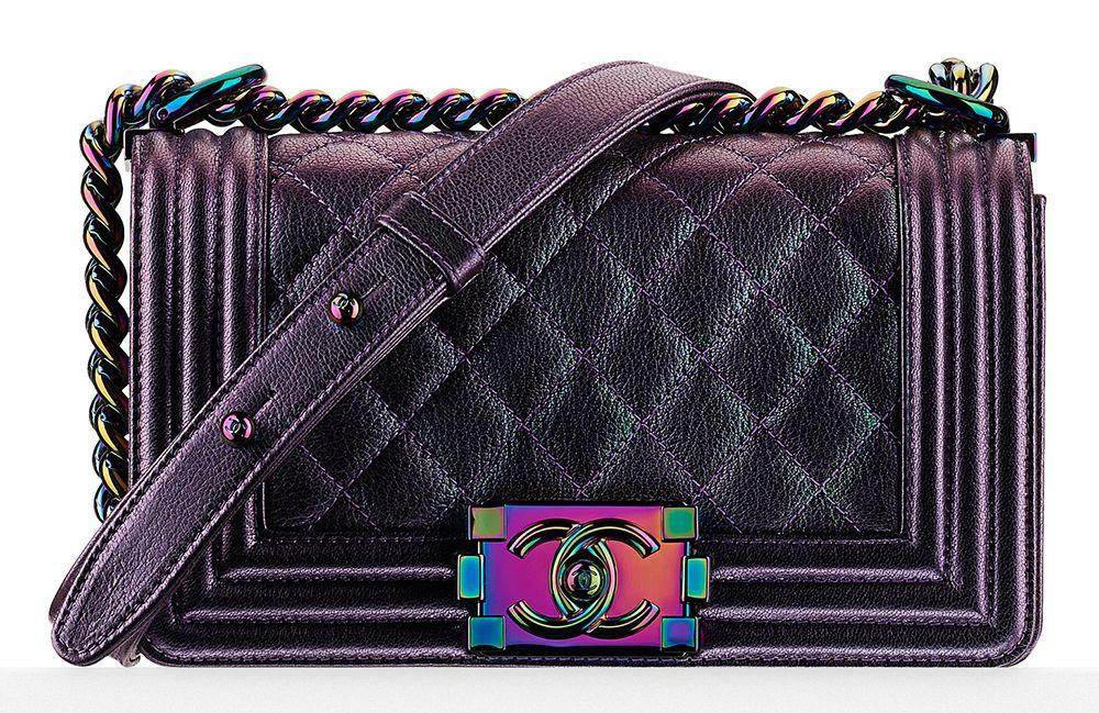 d1e1ab5d07d4 Currently Coveting: Kylie Jenner's Iridescent Chanel Boy Bag (PurseBlog.com)