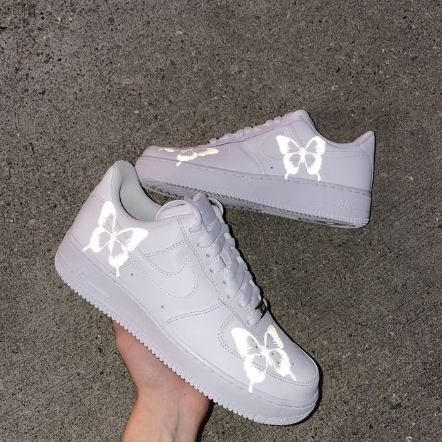 Reflective butterfly AF1 Custom in 2020 Custom shoes