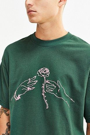 5dade1621 Division Of Labor Rose T-shirt | Men | Tops | Graphic Tees | Urban ...