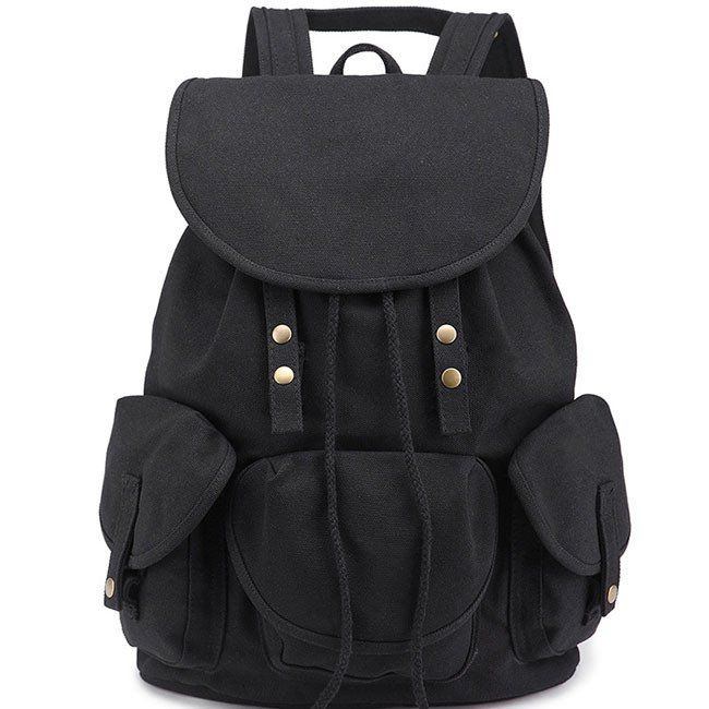 Unique High School Bag Leisure Student Travel Canvas Backpack. Leisure  Three Pockets ... cf0aae517be01