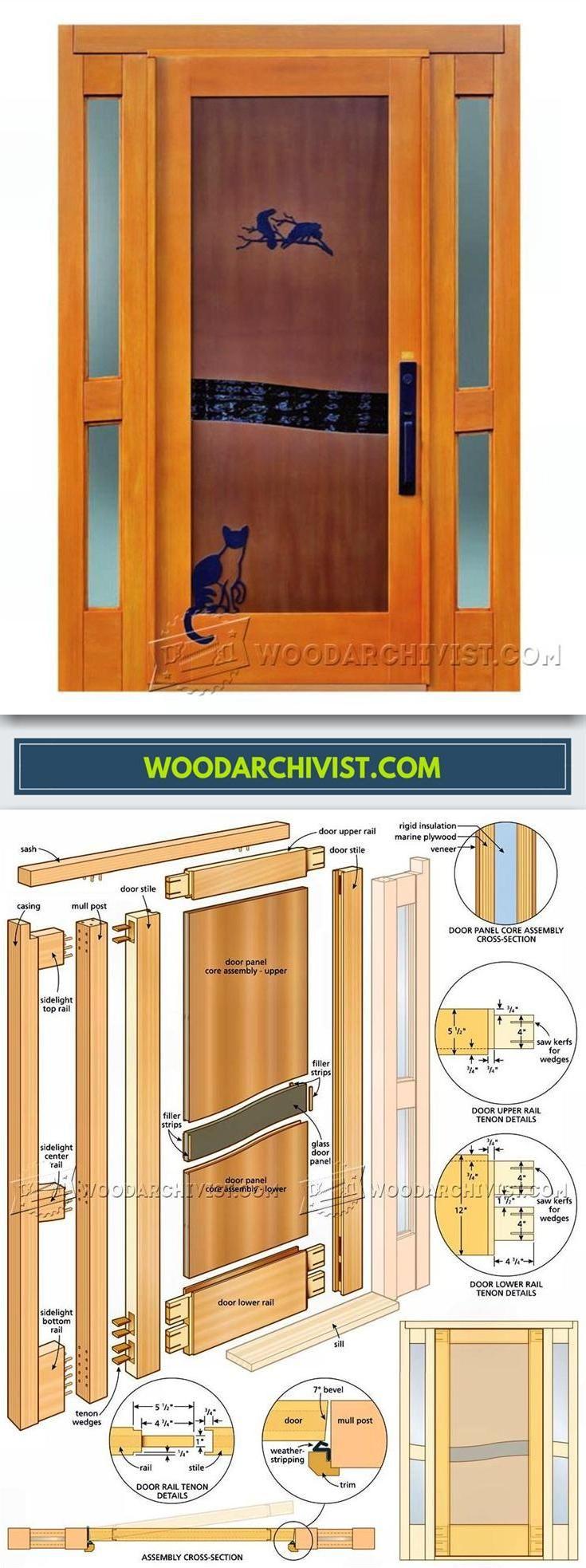 Entry Door Plans Door Construction And Techniques Woodarchivist Com Door Plan Entry Doors Wooden Front Doors