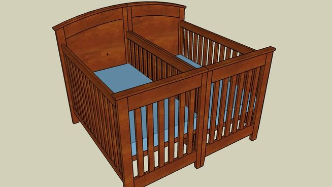 Crib for Twins - Plans | Twin cribs, Baby cribs for twins ...