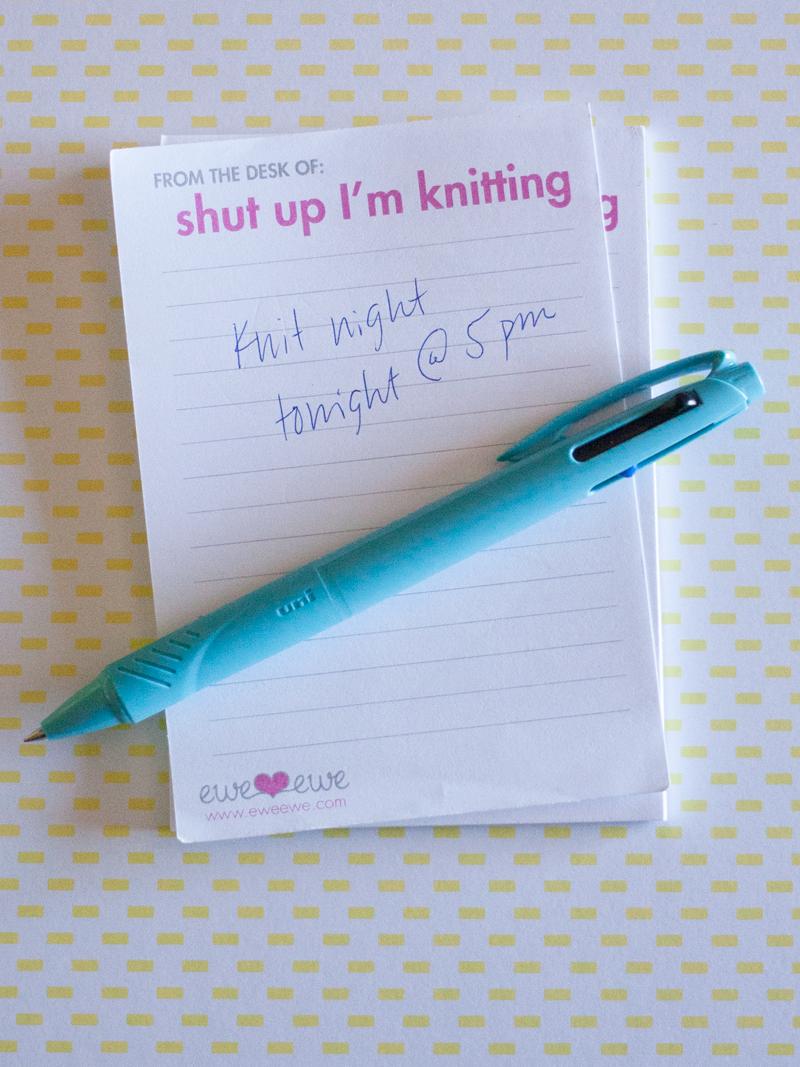 Ewe Ewe Quotepads: Funny Knitting Notepads | Yarn store, Knit ...
