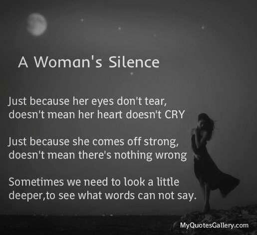 Goes silent when a woman When Men