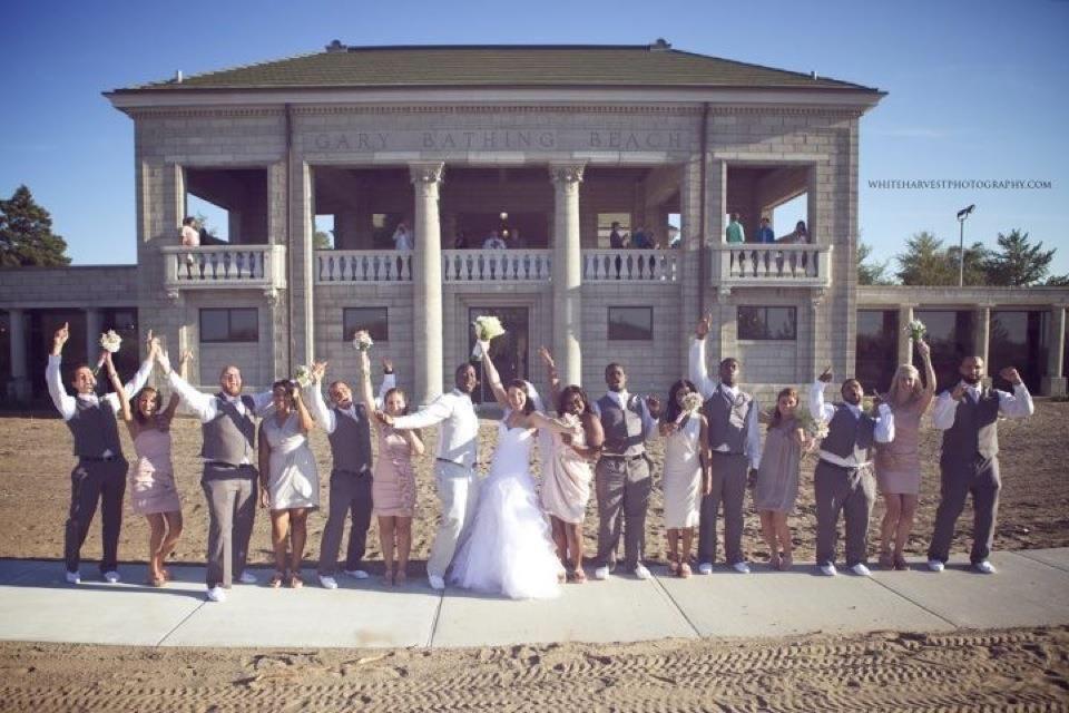 Bridal Party At The Gary Aquatorium