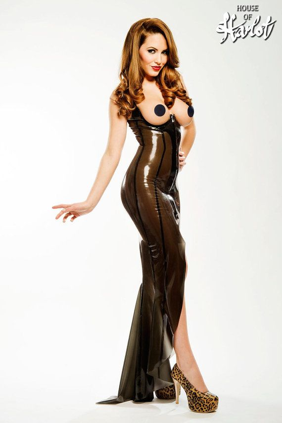 SABINA Topless Latex Rubber Gown by HOUSEofHARLOT on Etsy | Shinny ...