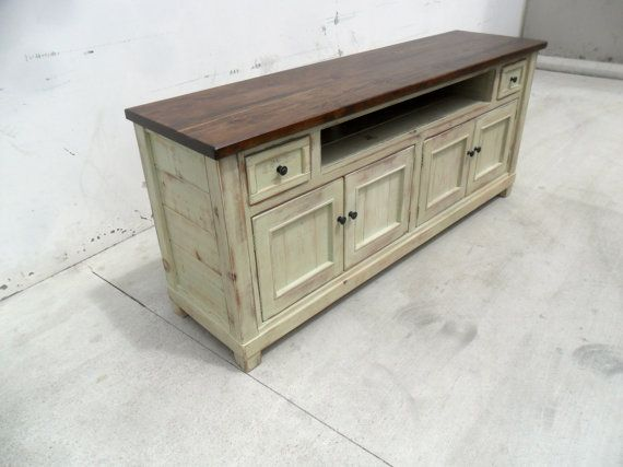 Media Console TV Stand Entertainment Center Reclaimed Wood