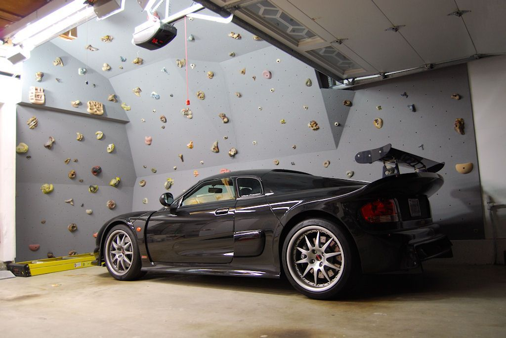 Indoor Rock Climbing Wall in the Garagethe kids would LOVE this