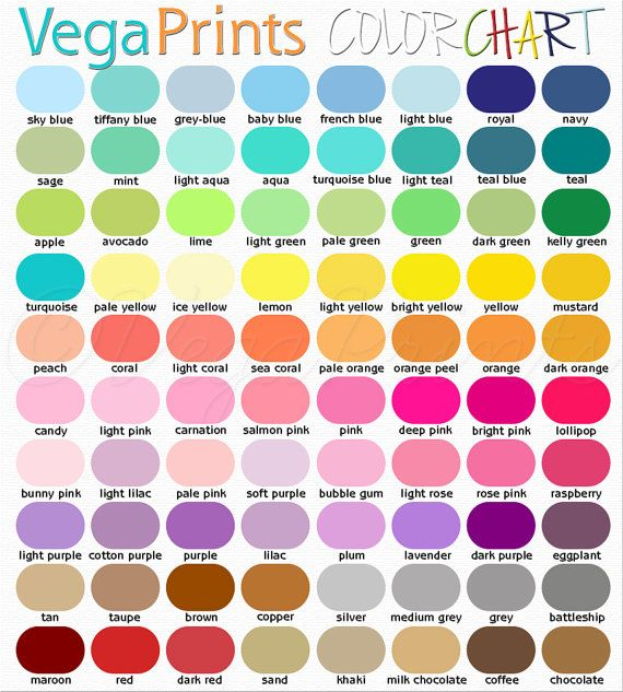 Chart Sample - sample rgb color chart