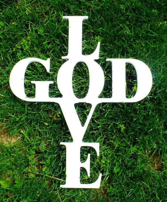 Wooden Cross Wall Decor  Love God Cross  Wooden by LettersbyLeslie, $50.00
