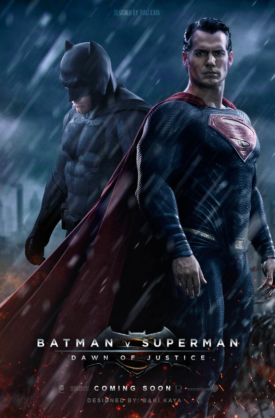 Batman V Superman Dawn Of Justice Poster 2 By Krallbaki Deviantart Com On Deviantart Batman V Superman Poster Superman Poster Batman Vs