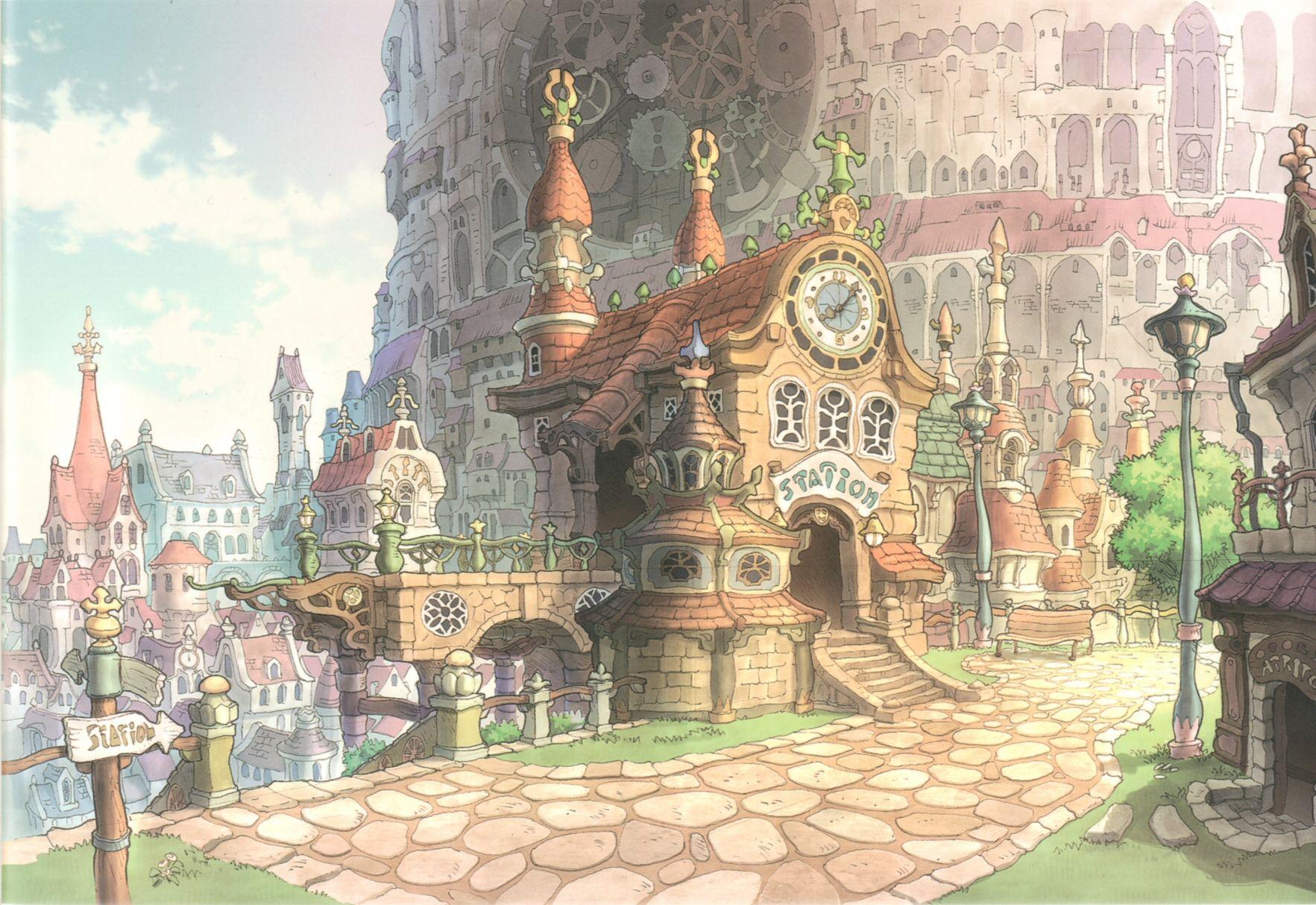 Lindblum Final Fantasy Ix From Ff Omeganebula Com Environment Concept Art Fantasy Concept Art Fantasy Landscape