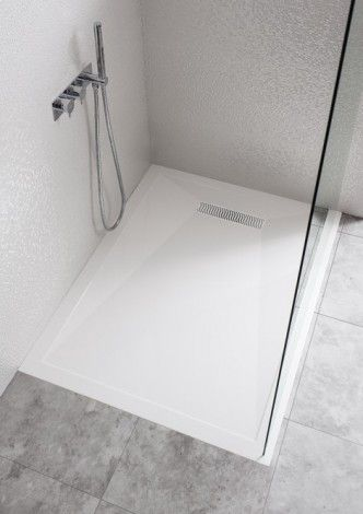 Simpsons 25mm Stone Resin shower tray with Linear waste 900 by 1200mm LN0R91200