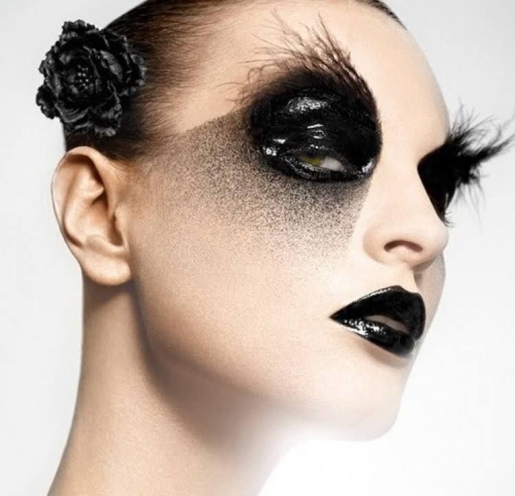 black crow makeup