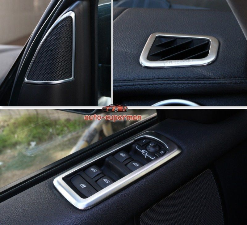 Land Rover LR4 Interior Chrome Set Door Speaker,Switch,Air Vent Cover Trim  8PCS