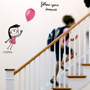 Dreams Girl Wall Sticker, 44€, now featured on Fab.