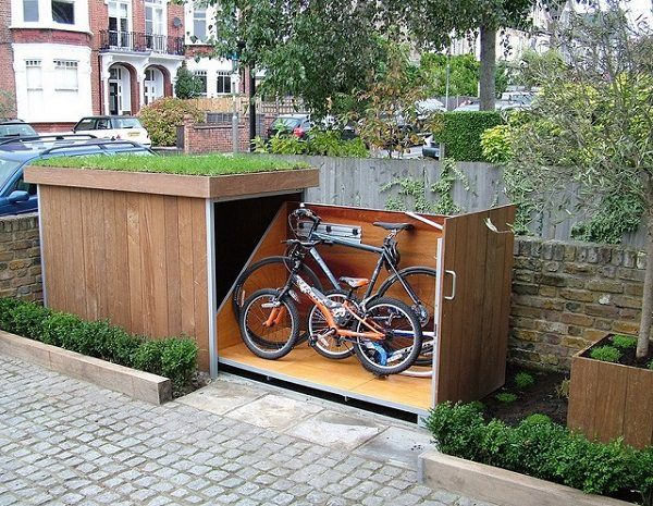 21 Most Creative And Useful Diy Garden Tool Storage Ideas Balcony Garden Web Bike Storage Outdoor Bike Storage Garden Tool Storage