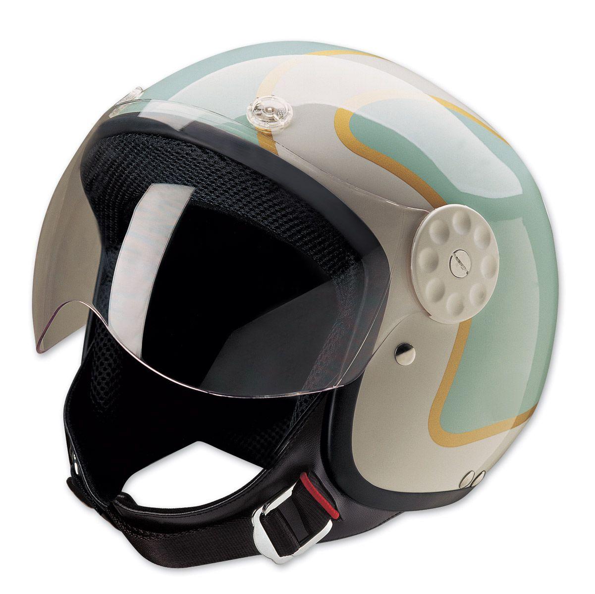 HCI15 Stripe Green and Gold Open Face Helmet 1300149
