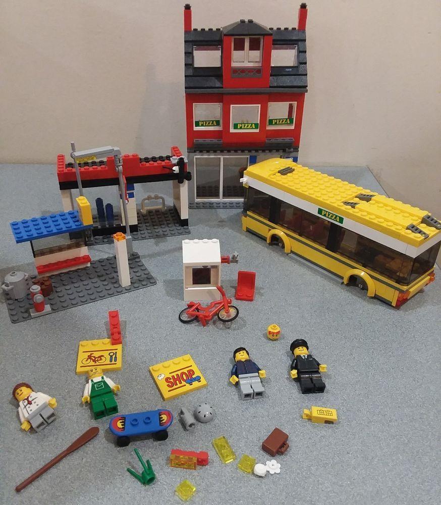 Lego City 7641 City Corner Bus Pizza Bike Shop Not Complete No
