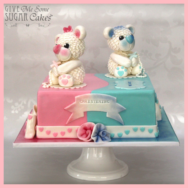 Split Christening Cake