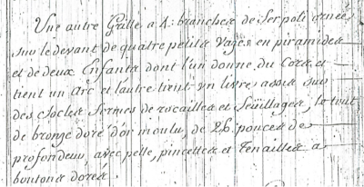 Extrait Du Journal Du Garde Meuble De La Couronne Archives