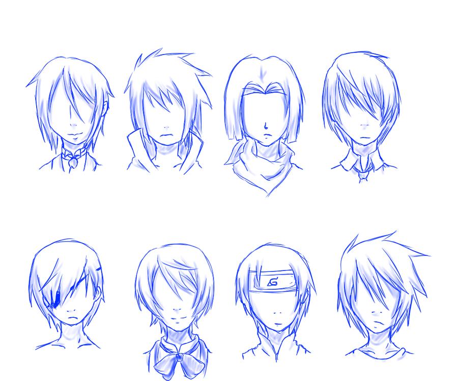 Guy hair styles, especially for Anime. Anime boy hair