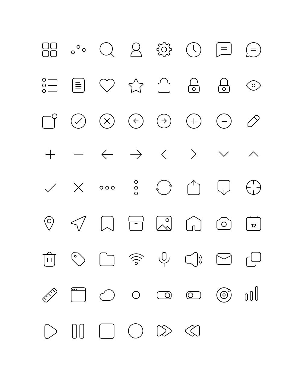 tomicons  u2013 70 simple icons free set of 70 simple icons