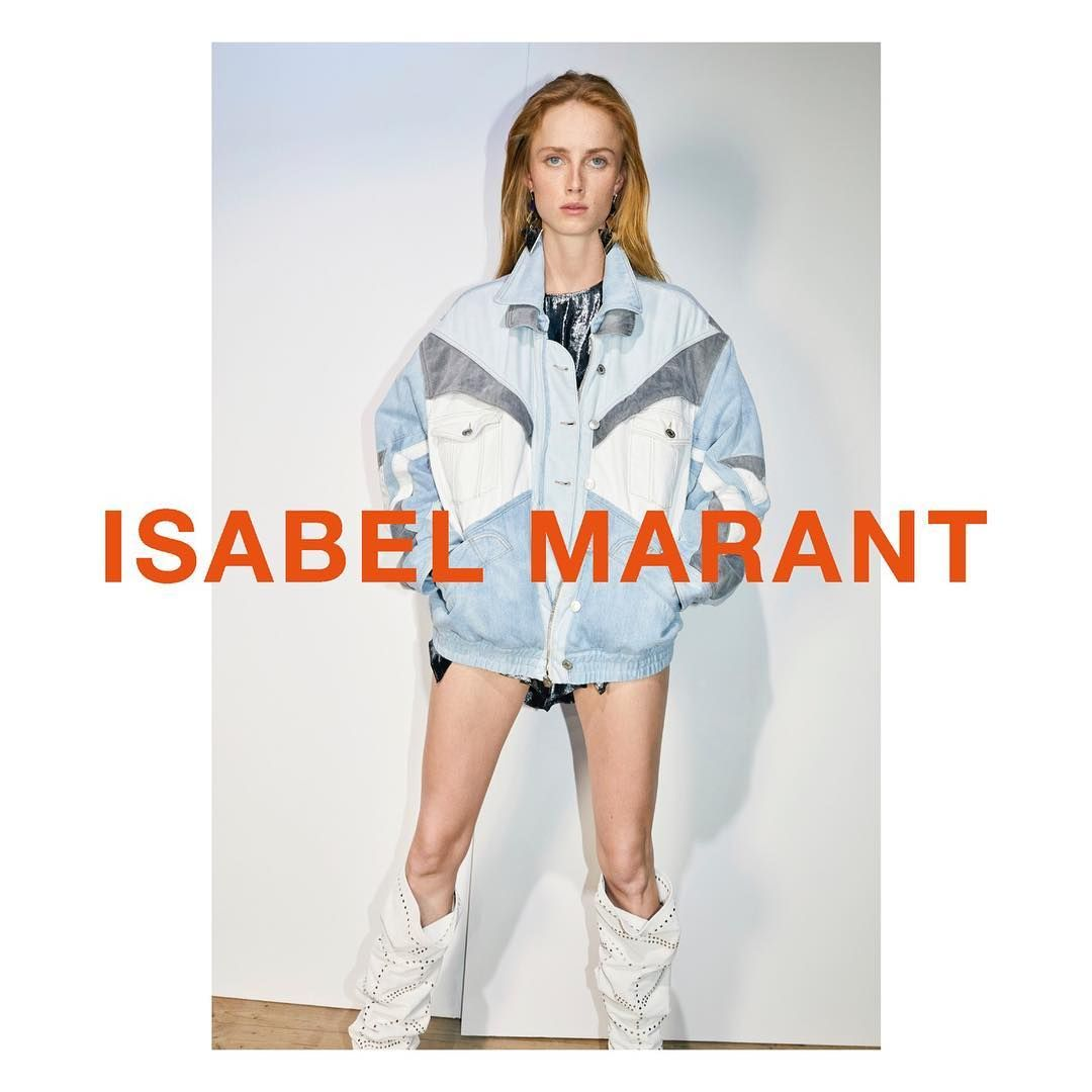 "2aac59f9a9f Isabel Marant Official Account on Instagram  ""Unveiling the new Isabel  Marant Spring-Summer 19 campaign. Featuring  riannevanrompaey Photographed  by Juergen ..."