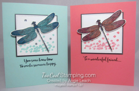 Shimmery Dragonfly Dreams Cards from the 5th Annual Occasions Catalog Kickoff Party.  #stampinup