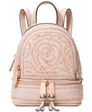 b6b01a14433e Michael Michael Kors Rhea Mini Zip Studded Convertible Backpack - Pink