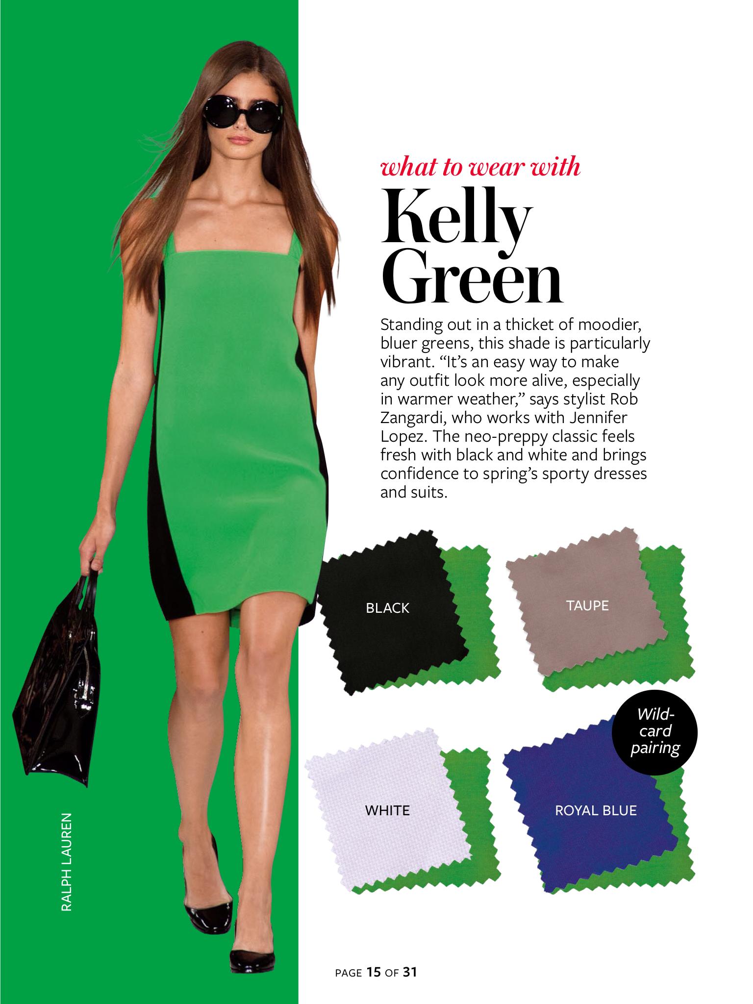 InStyle Color Crash Course-Kelly Green | Color Palettes | Pinterest ...