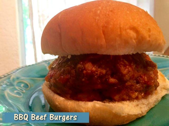 Recipe: BBQ Beef Burgers  http://www.twohensandtheirchicks.com/recipe-bbq-beef-burgers.html
