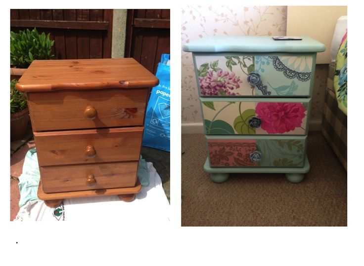 Upcycled bedside cabinets google search upcycle for Furniture upcycling