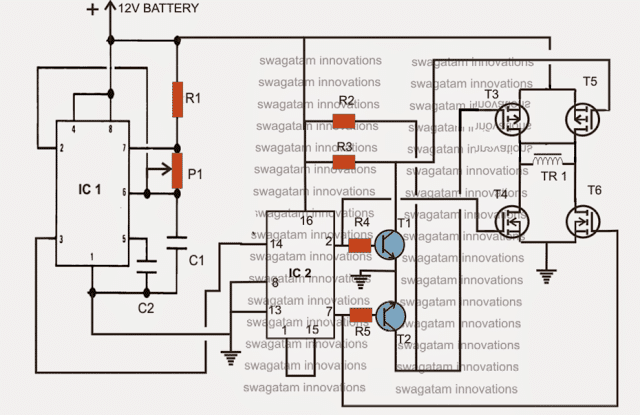 H Bridge Sine Wave Inverter Circuit Projects Circuit Diagram Electronic Engineering