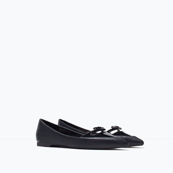 POINTED BALLERINAS WITH BOW from Zara