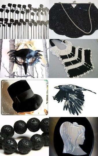 Black is Black by Violeta Warner on Etsy--Pinned with TreasuryPin.com #vintage #jewelry #Fashion #etsyretwt