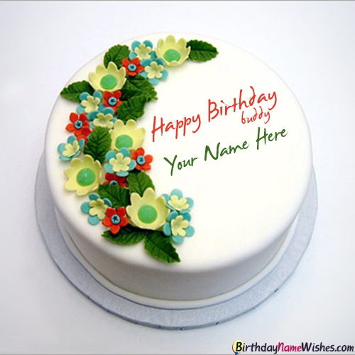 Happy Birthday Wishes Cake For Friend With Name Editor Generator