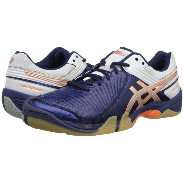the best attitude 0eca3 e6d1a ASICS GEL-Domain 3 (Navy Lightning White) Men s Volleyball Shoes (