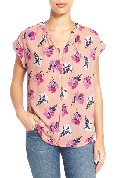Pleione Pleione Split Neck Top (Regular & Petite) (Nordstrom Exclusive) available at #Nordstrom