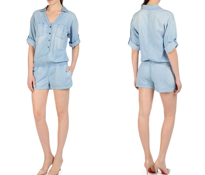 3d18456d1900 (3) The Paradise Chambray All In One Cove One Piece Playsuit Romper - AG