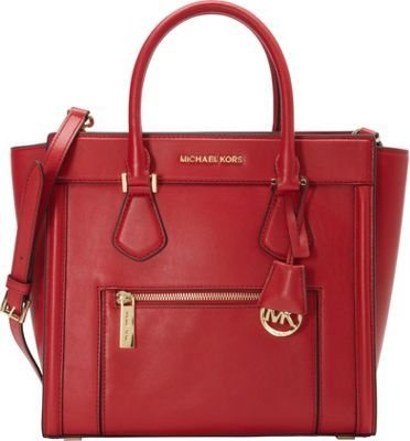 MICHAEL Michael Kors Colette Zip Large Satchel Chili - via eBags.com!