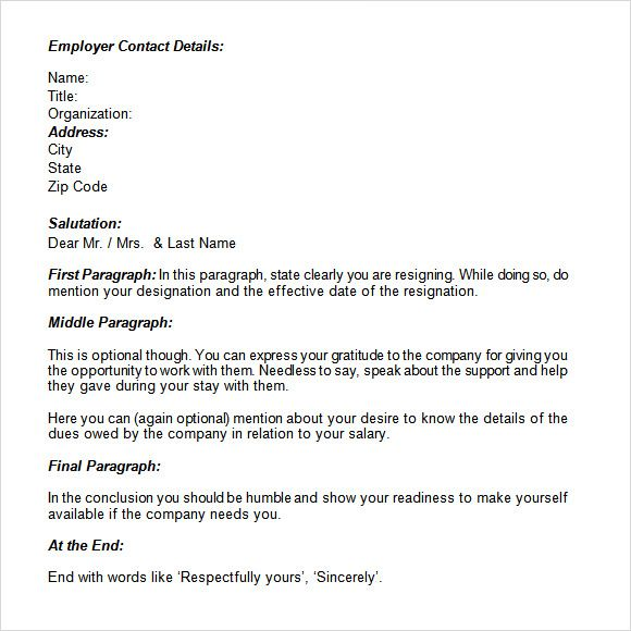 Resignation Letter Write Exist Export Library Application Form