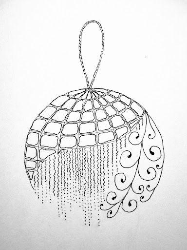 Christmas ornament zentangle   Zentangle patterns, Doodles ...